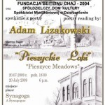 Poster – poetry reading in the synagogue
